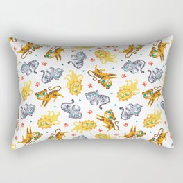 Baby Big Cats Pattern Rectangular Pillow