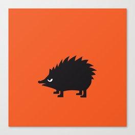 Angry Animals: hedgehog Canvas Print
