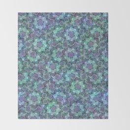 Blue Sedum Spiral Pattern Throw Blanket