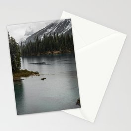 Landscape Photography Maligne Lake Island Stationery Cards
