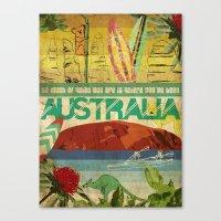 australia Canvas Prints featuring Australia by LilianaPerez