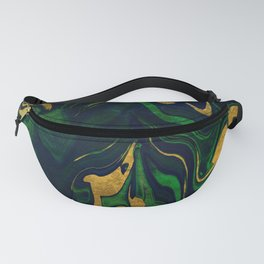 Rhapsody in Blue and Green and Gold Fanny Pack