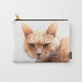 Red cat watching Carry-All Pouch