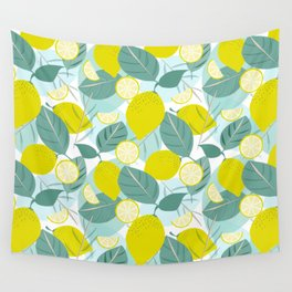 Lemons and Slices Wall Tapestry