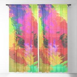 TROPICALIA III Sheer Curtain