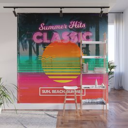 Retrowave: Classic Summer Hits Wall Mural