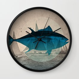 Northern Bluefin Wall Clock