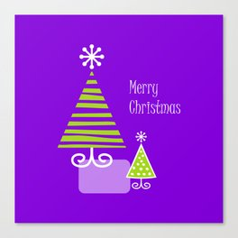 Merry violet Canvas Print