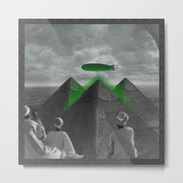 The Late Invasion on the Giza Triad Metal Print