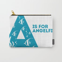 A is for Angelfish - Animal Alphabet Series Carry-All Pouch