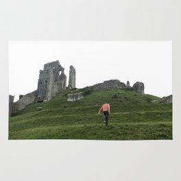 Corfe Castle Wanderlust medieval Rug