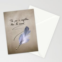 The pen is mightier than the sword Stationery Cards