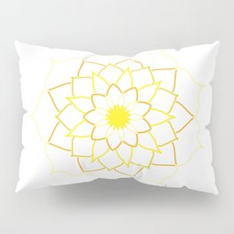 Yellow Mandala Flower Pillow Sham