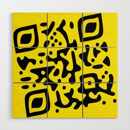 QR Clothes Yellow Wood Wall Art