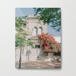 Colonial House Surrounded by Tropical Vibes Metal Print