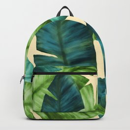 Tropical Banana Leaves Original Pattern Backpack