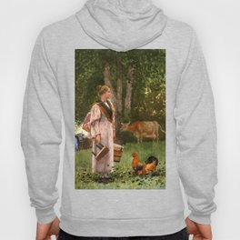 The Milk Maid 1878 By WinslowHomer | Reproduction Hoody