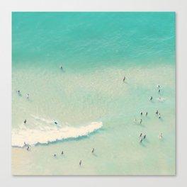 beach summer waves Canvas Print