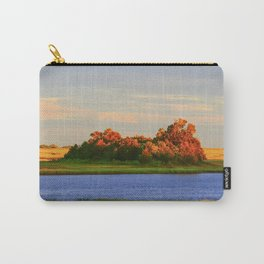 Orange Fall Intercoastal Tree Tops Painting Carry-All Pouch