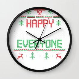 Happy Saturnalia Everyone Funny Christmas Tshirt Wall Clock