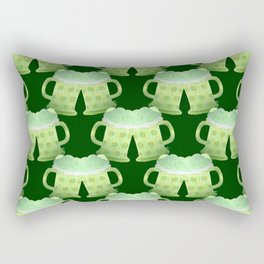 Two St-Patrick's Day green beers Rectangular Pillow