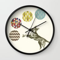 games Wall Clocks featuring Ball Games by Cassia Beck