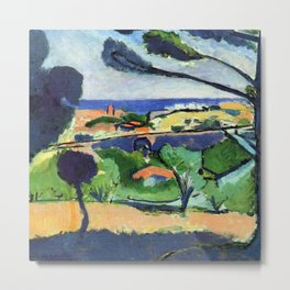Henri Matisse View of Collioure and the Sea Metal Print