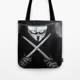 V for Vendetta  (by Esin )5 Tote Bag
