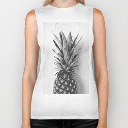Black and white pineapple Biker Tank