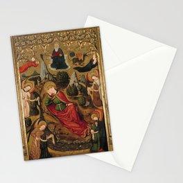 Master of Aiguatèbia - Saint John the Evangelist's Dream at Patmos (1450) Stationery Cards