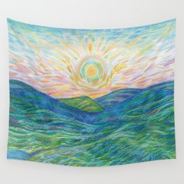 Sunrise Mountains Wall Tapestry