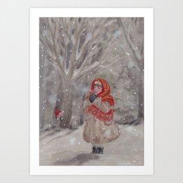Hiding gnome Art Print