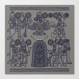 The Seven Fish Demigods of Eridu Canvas Print