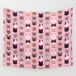 Cats Cats Cats purrfect gift present for cat lover cat lady cat man all cat breeds by pet friendly Wall Tapestry