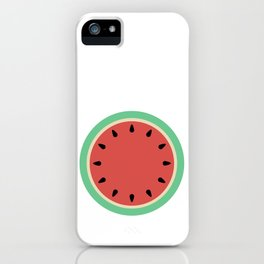 Watermelon Clock Triptych iPhone Case