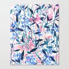 Wandering Wildflowers Blue Canvas Print