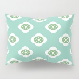 flower joy - teal and green Pillow Sham