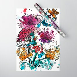 Floral watercolor abstraction Wrapping Paper