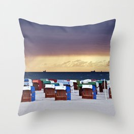 A STORM IS COMING - BALTIC SEA Throw Pillow