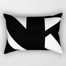 Hidden Letters. Baskerville K Rectangular Pillow
