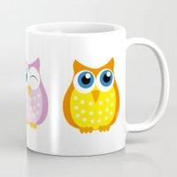 owls Mugs featuring owls by Li-Bro