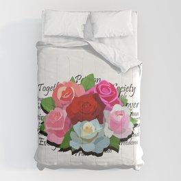Liberty Flowers by Devin Buzzarello Comforters