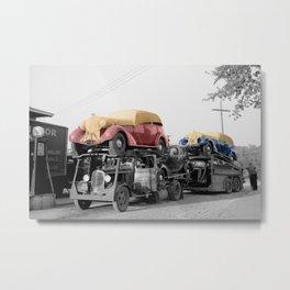 Vintage Car Carrier Metal Print
