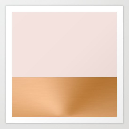 Blush Pink and Copper  Art Print