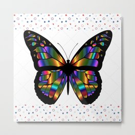 Iridiscent Butterfly Metal Print