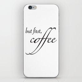 coffee type iPhone Skin