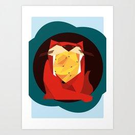 cat&birds Art Print