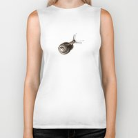 snail Biker Tanks featuring  Snail. by Assiyam