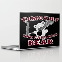 cannabis Laptop & iPad Skins featuring TIMOTHY THE CANNABIS BEAR  by Timmy Ghee CBP