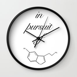in pursuit of happiness Wall Clock